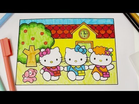 Coloring Hello Kitty Mimmy Amp Family Coloring Book Page Colored Pencil Cute Coloring Pages For Kid Cute Coloring Pages Hello Kitty Coloring Kitty Coloring