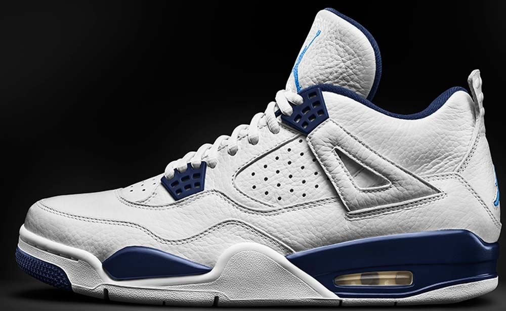 nike air jordan 4 blue and white plates