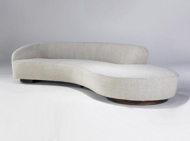 Serpentine Sofa With Arm Designed In 1950 Vladimir
