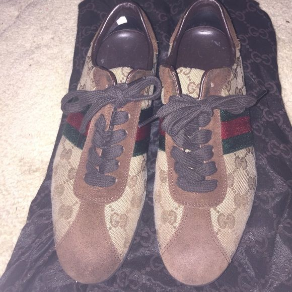 26eeb7fdfa6 Selling this Gucci sneakers OFFERS  in my Poshmark closet! My username is   monee89.  shopmycloset  poshmark  fashion  shopping  style  forsale  Gucci   Shoes