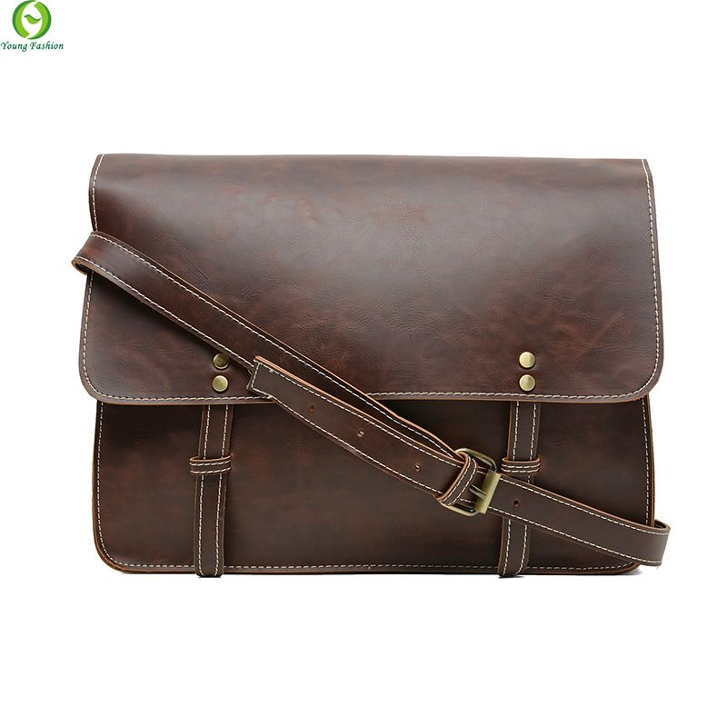 4be2728d66f7 New Fashion leather Men messenger bags casual Men s travel bags Man shoulder  Laptop bag Black Brown Business Satchel