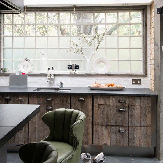 Elegant Reclaimed Wood Kitchen