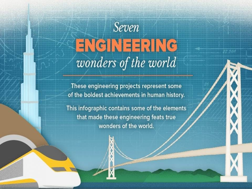 7 Engineering Wonders of the World: An Infographic