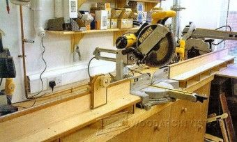 Folding Miter Saw Table Plans Tips Jigs And Fixtures Woodarchivist
