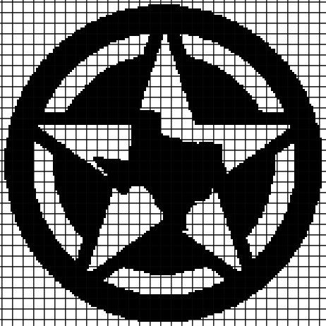 Texas Star Crochet Graphghan Pattern Chartgraph And Row By Row