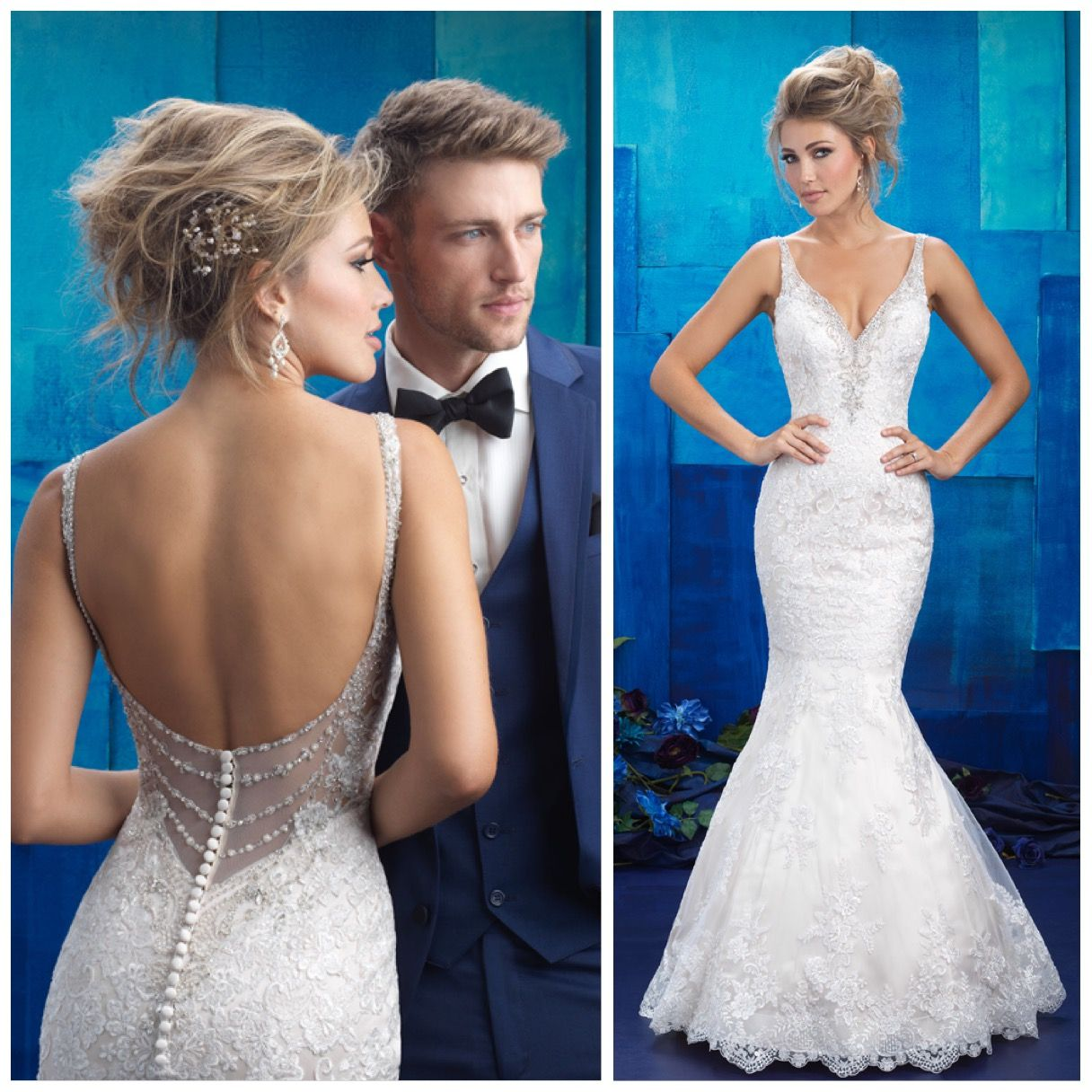 Dress Of The Week This Allure Bridals Gown Features Lace Appliques And A Gorgeous Form Fitti Allure Wedding Dresses Form Fitting Wedding Dress Wedding Dresses [ 1216 x 1216 Pixel ]