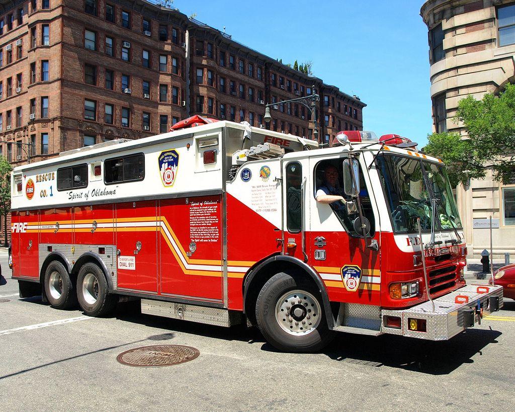 "R001s FDNY ""Spirit of Oklahoma"" Rescue 1 Fire Truck, Upper"