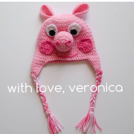 Piggy crochet hat by withloveveronica on Etsy | yarn and needles ...