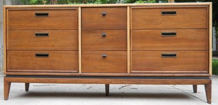 Best Stanley Low Dresser Mid Century Modern Recessed Drawer 400 x 300