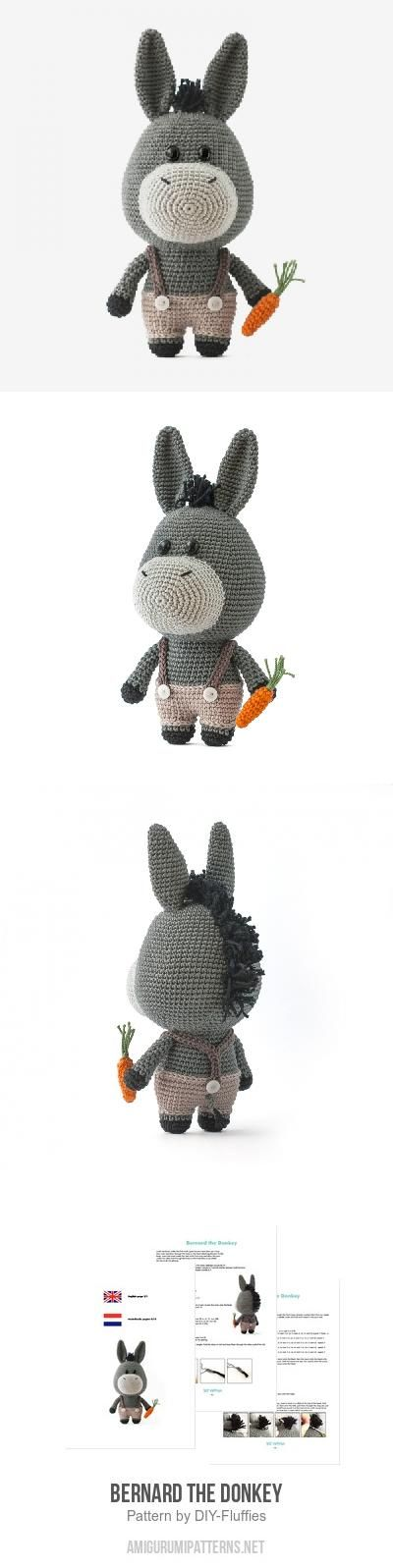 Bernard the Donkey amigurumi pattern   crochet toys   Pinterest ...