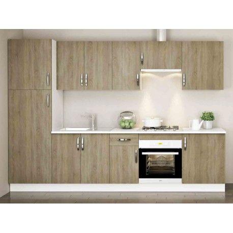 Conjunto mueble Cocina Roble Cortez | Roble, Muebles de cocina y Zócalo