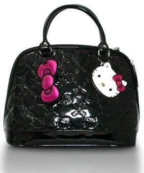 083854682128 Amazon.com  Hello Kitty Small Black Patent Embossed Bag  Apparel   Clothing