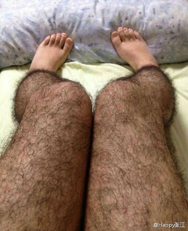 medias peludas hairy stockings