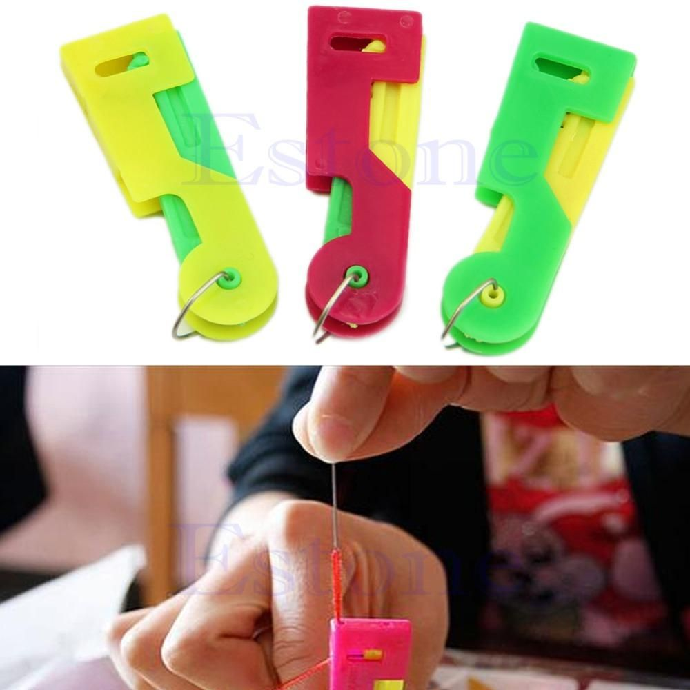 [Visit to Buy] 2Pcs Elderly Use Automatic Easy Sewing Needle Device Threader Thread Guide Tool #Advertisement