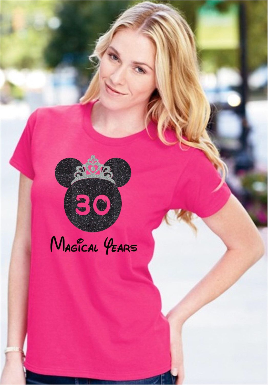 Disney Birthday Shirt Ladies 30th Custom Adult Shirts Any
