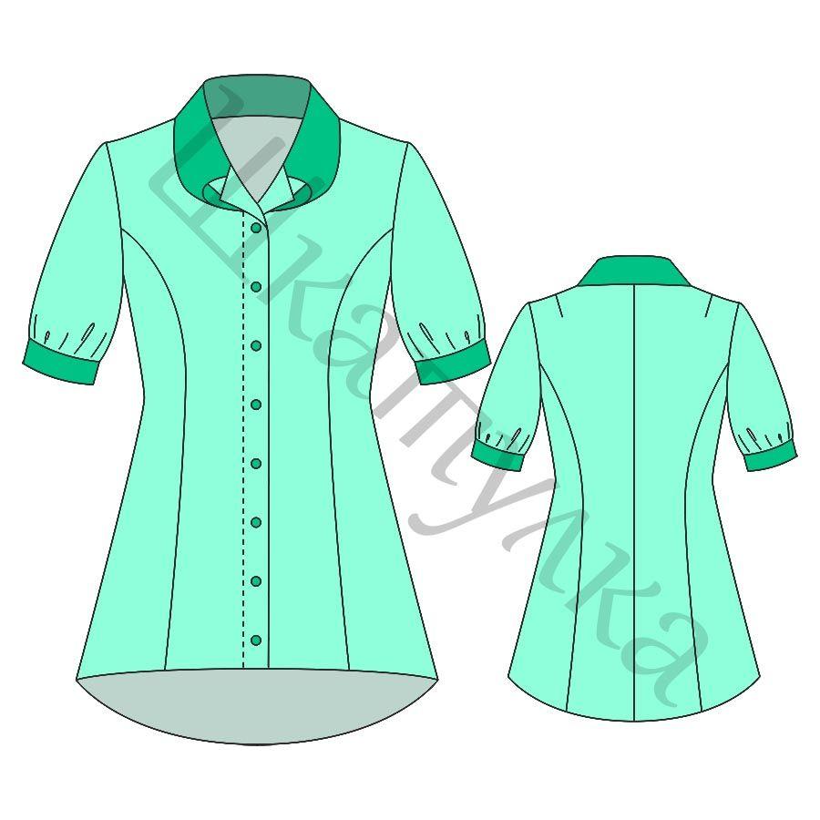 Выкройка удлиненной блузки WT310717 | pdf sewing patterns ...