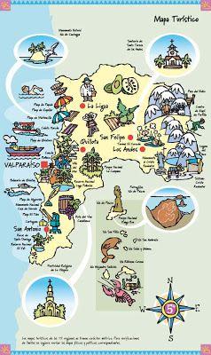Pin by Are Garrido Villegas on mapas tursticos Pinterest