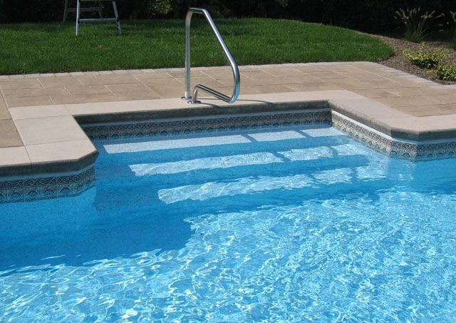Inground Pool Steps For Pic Pool Steps Swimming Pool In 2019