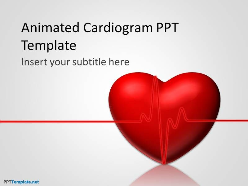 0026-animated-heart-ppt-template-1 | ECG | Pinterest | Ppt template ...