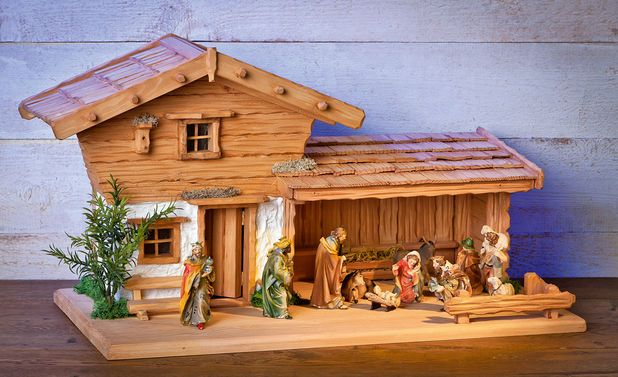 bauplan tessiner krippen stall weihnachten krippenbau. Black Bedroom Furniture Sets. Home Design Ideas