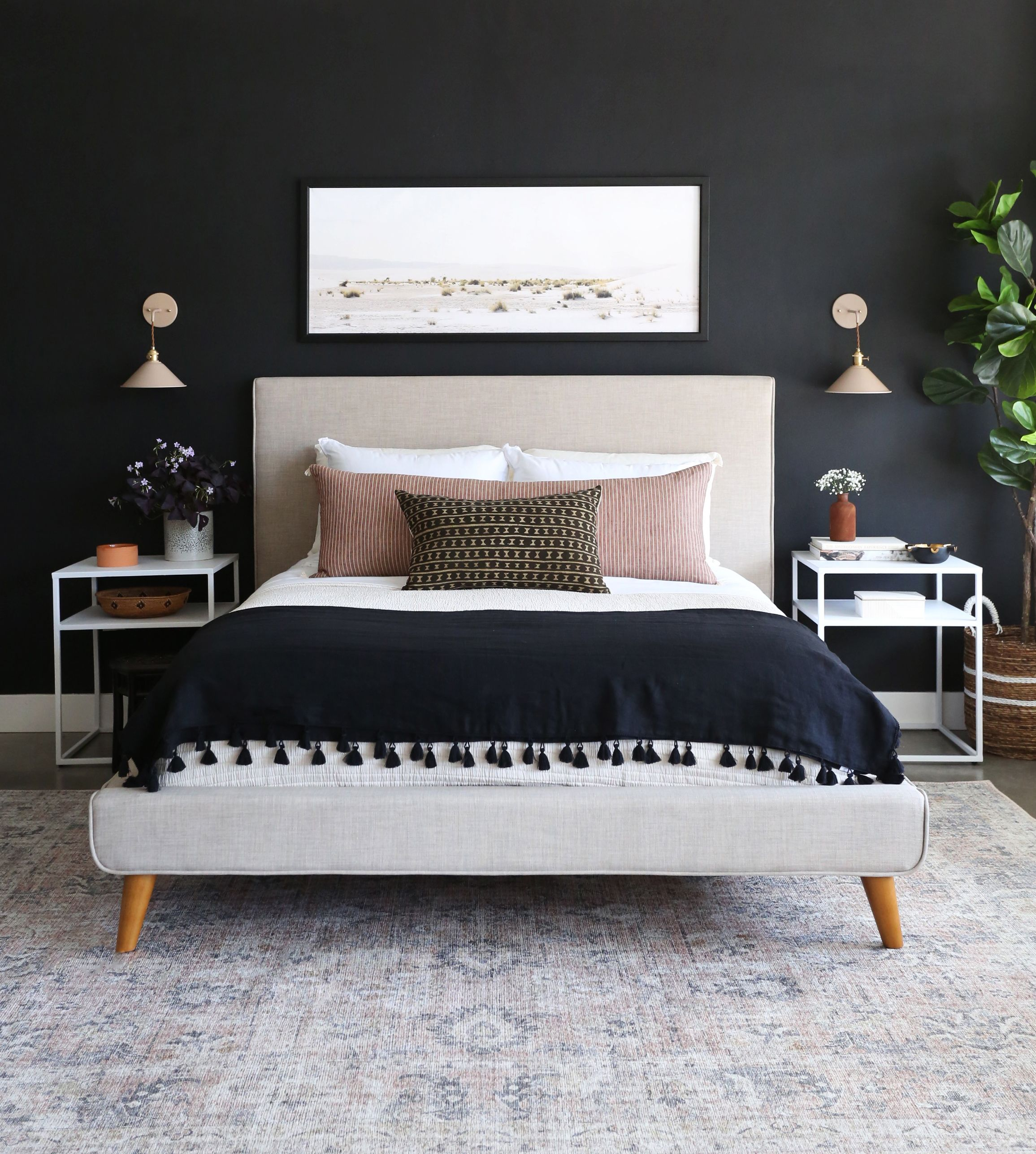 Updating Your Bedroom For Spring Moody Bedroom Small Bedroom