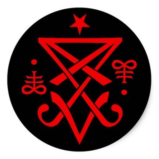 Adesivo Redondo Sigil Oculto De Lucifer Satnico Lucifer