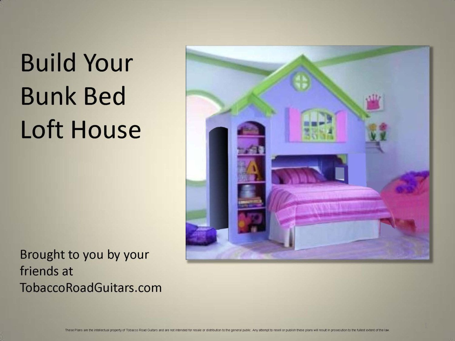 Two twin loft bed   Bunk Bed Loft House Woodworking Plans Instructions Your kids