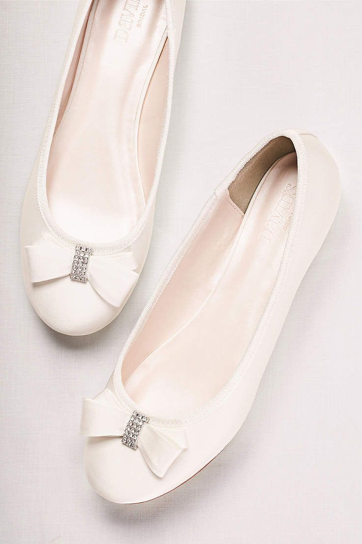 50e77017e5d Browse David s Bridal collection of affordable ballet flats in a variety of  colors   designs such as black