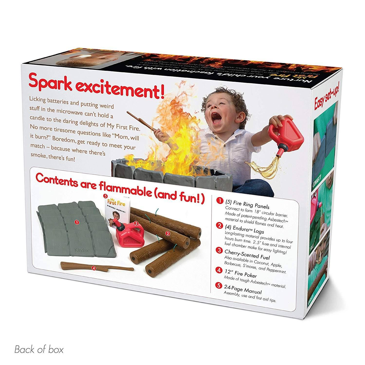Contents are flammable and fun funny funny joke