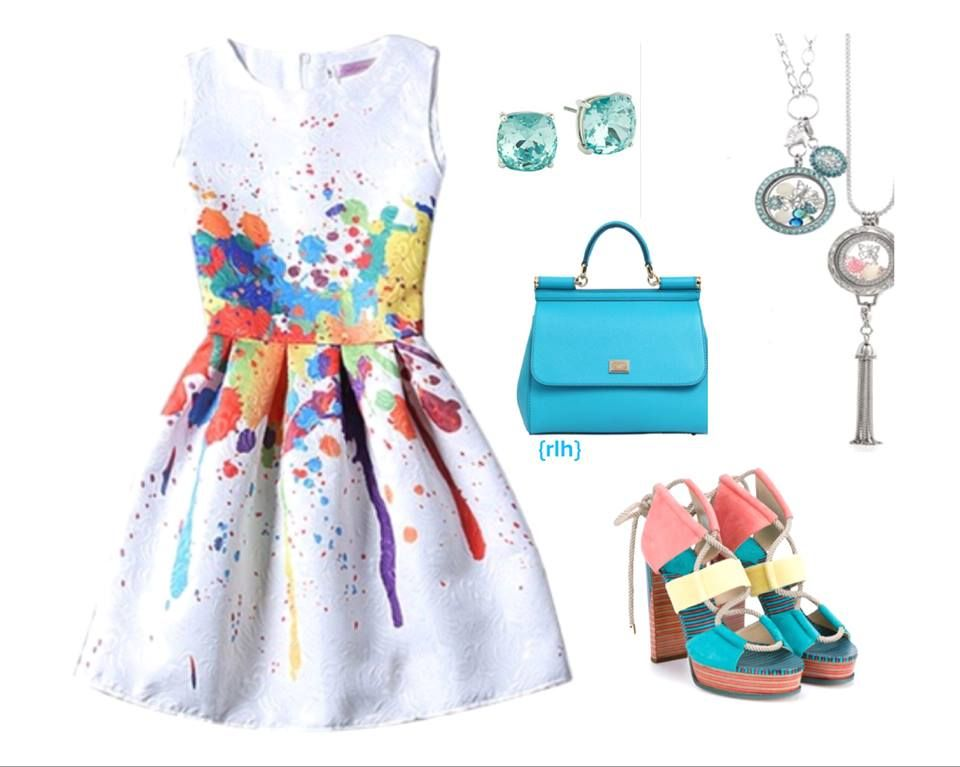 Spring/Summer with Origami Owl! Turquoise and Floral Living Locket Faces to go with your favorite outfits!