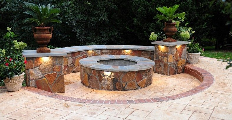 15 stunning outdoor fire pits designs | fire pit designs, outdoor ... - Patio Fire Pit Ideas