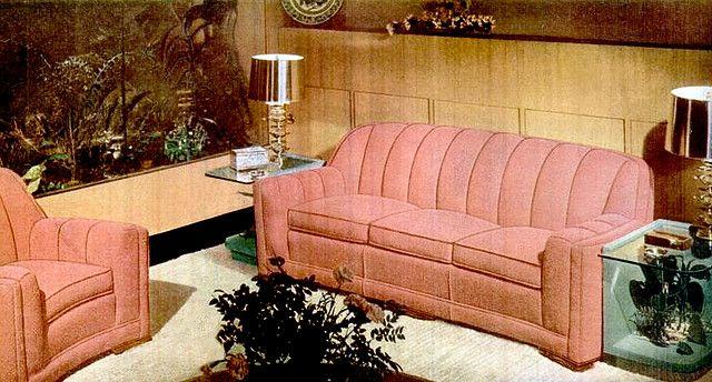 Living Room 1947 Furniture Kroehler Furniture Vintage Sofa