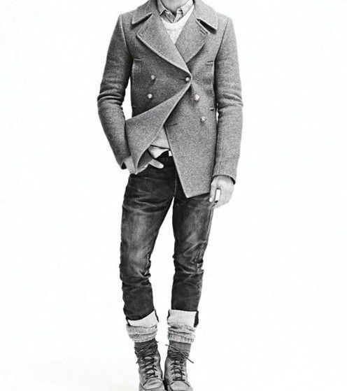 coat, pants, and boots. style.