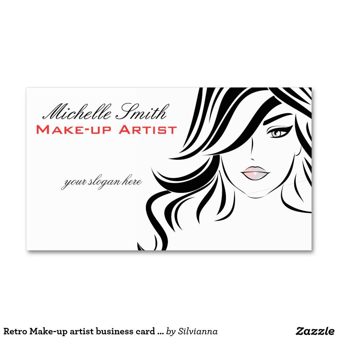 Retro Make-up artist business card design | logos de salones de ...
