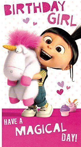 Despicable Me 2 Birthday Girl Have A Magical Day Birthday Card New
