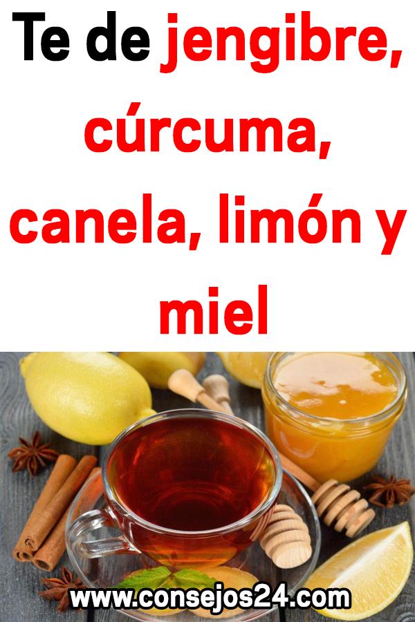 canela jengibre curcuma y limon