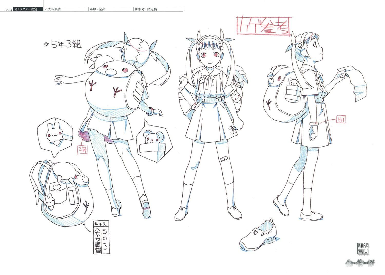 akio_watanabe bakemonogatari character_design monogatari_series settei