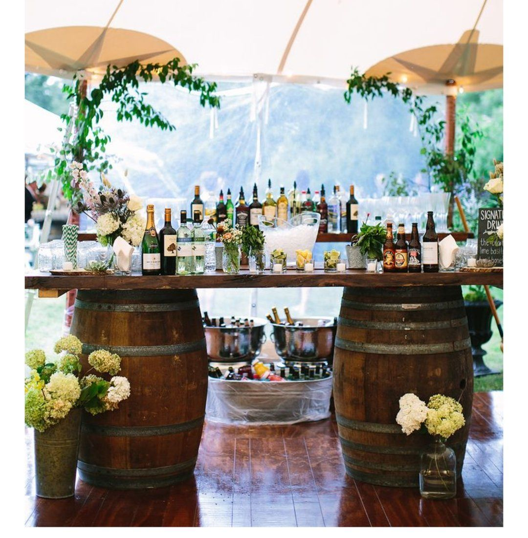Food For Outdoor Wedding: Bar, Barrel Base, With Taps, Full Function