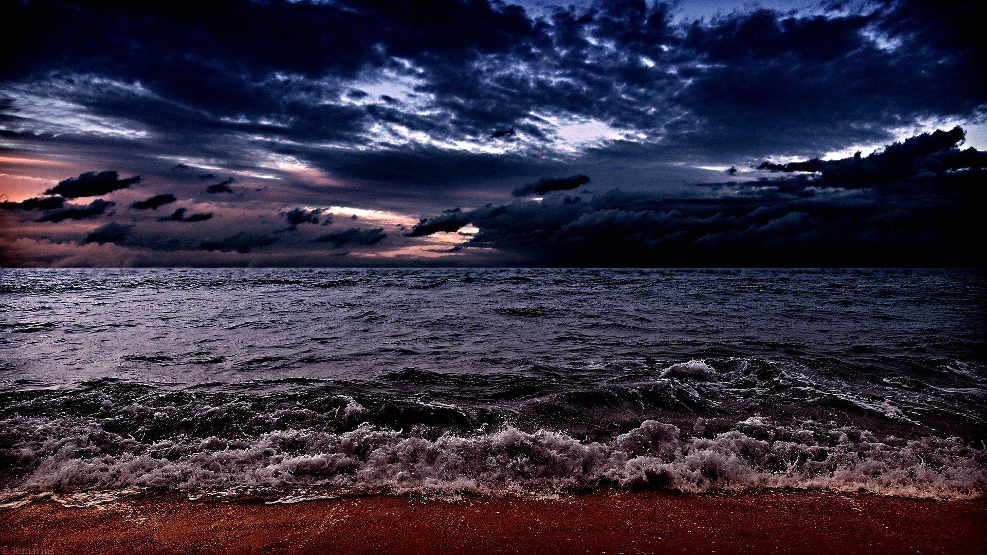 Dark Ocean Wallpaper Full Hd F4z Ocean Ocean Storm Ocean Wallpaper