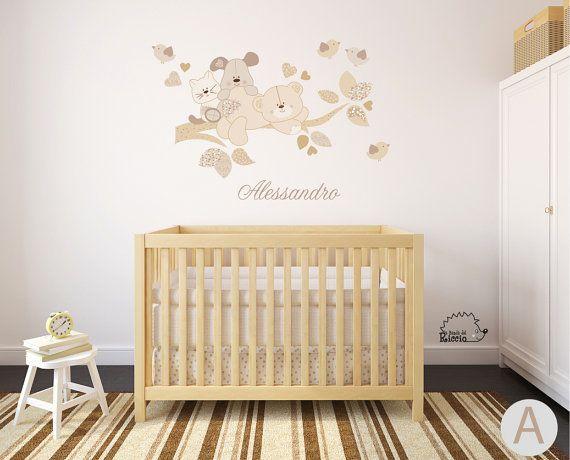 Decorazione Pareti Per Bambini : Wall decal branch baby wall decal nursery wall decal wall