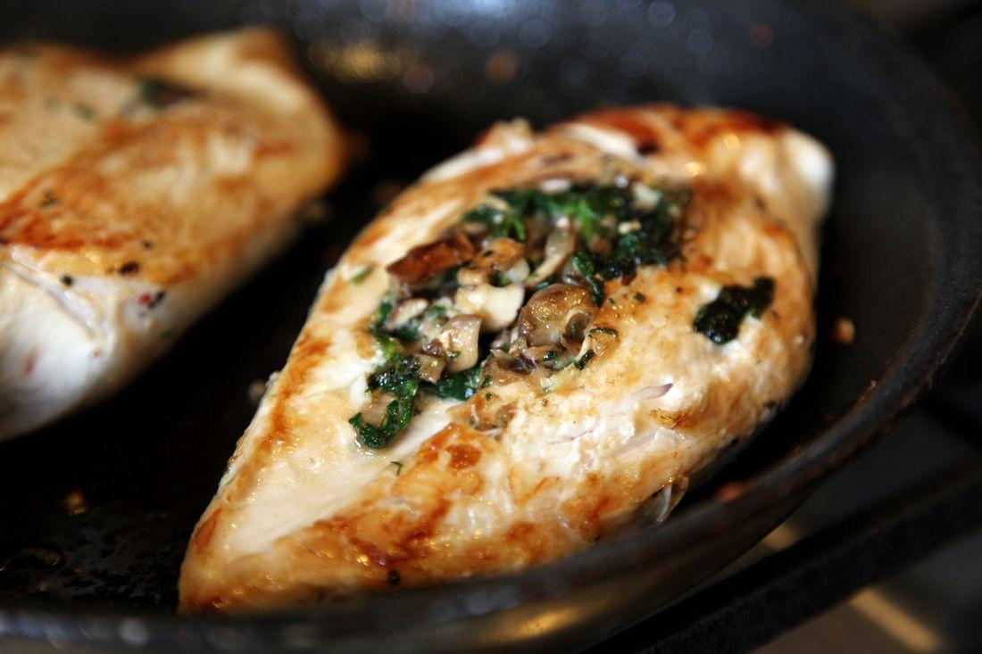 Mushroom & Spinach Stuffed Chicken Breasts - so healthy ...