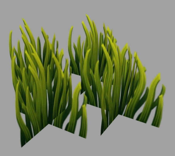 Grass planes | Modeling -- General | 2d game art, Hand painted