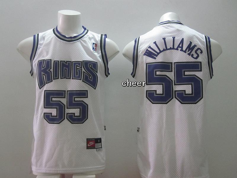 new styles 1ccf3 6b826 NBA Jersey Sacramento Kings #55 williams white Jersey ...