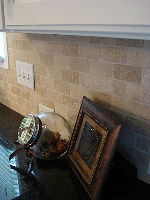 Fabulous Love This Tumbled Stone Subway Backsplash Tile For The Home Interior And Landscaping Ponolsignezvosmurscom