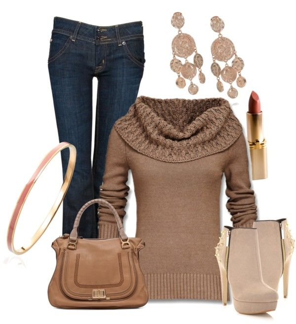 Soft Cotton Sweater with Jeans