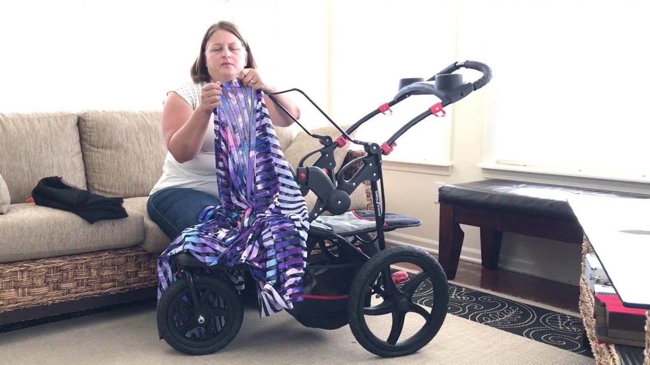 DIY Convert a Jogging Stroller into a Cart for Shopping