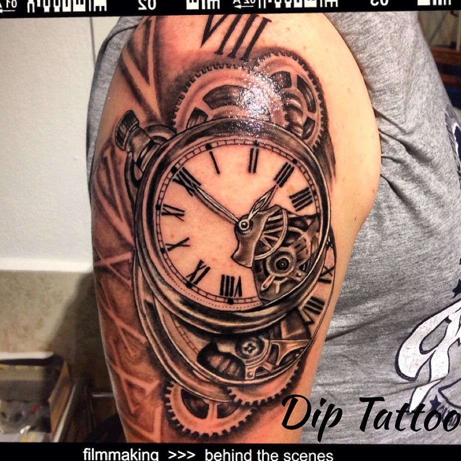 Hour Tattoo, Black Gray Tattoo
