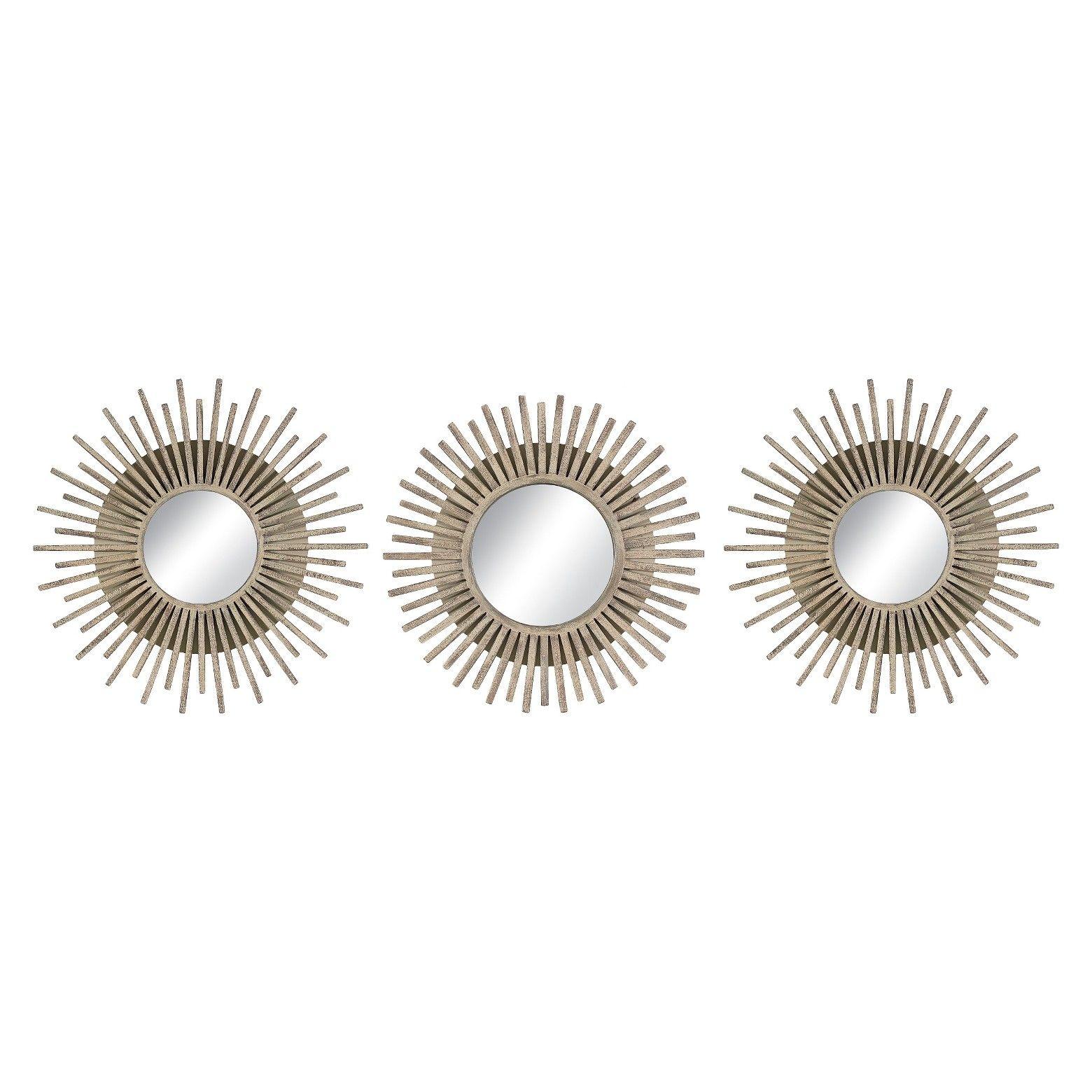 Starburst Gold Accent Mirrors 3 pack Threshold