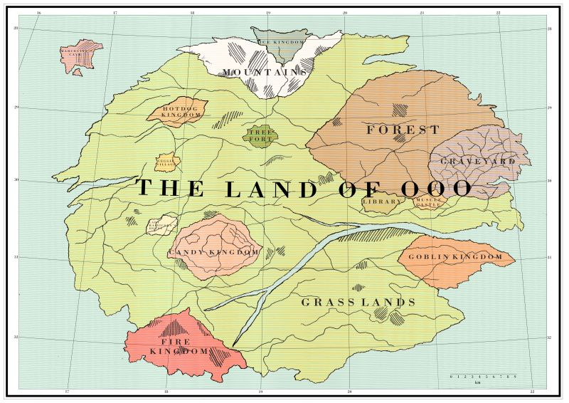 Map of Ooo | Adventure Time in 2019 | Disney pixar, Fictional ...