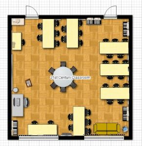 21st Century Classroom Layout Idea School Ideas Pinterest 21st